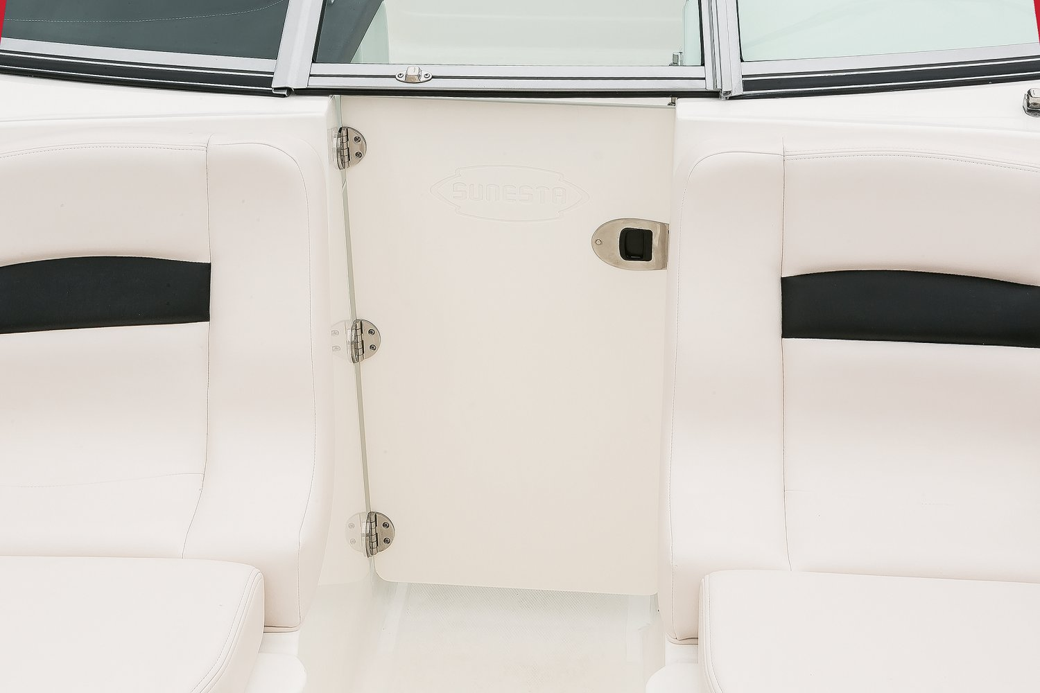 Image of a Solid Blue Hull 2018 244 Sunesta  Bow Close Off Door