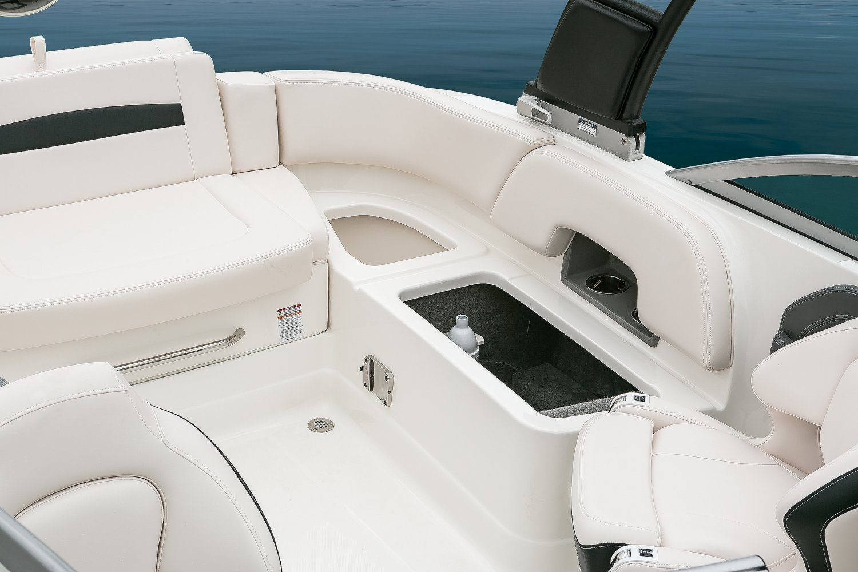 Image of a Solid Blue Hull 2018 244 Sunesta  Cockpit Storage