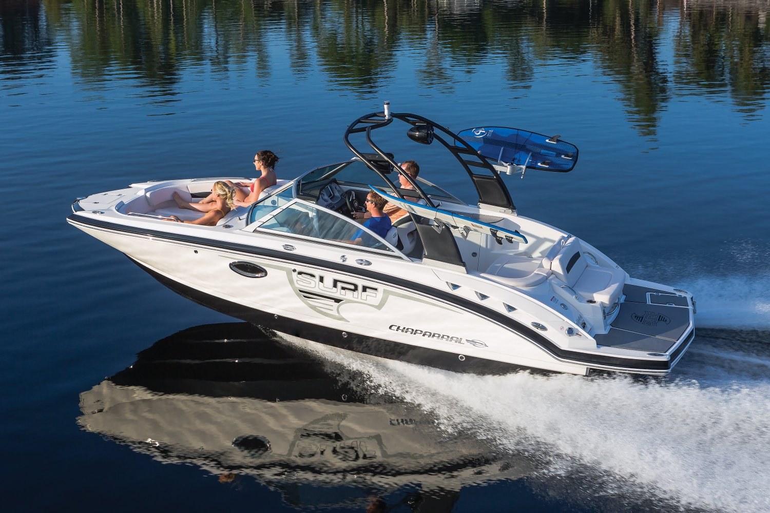Image of a Solid Blue Hull 2018 244 Sunesta  Chaparral Boats. Our track record speaks for itself. Seeing Chaparral on top when it comes to performance, styling, value and innovation should come as no surprise... we've won more than 30 awards for product excellence, a feat few can claim.