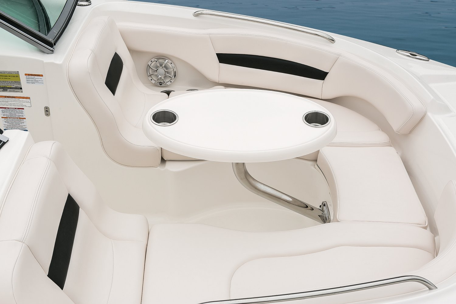 Image of a Solid Blue Hull 2018 244 Sunesta  Bow Table