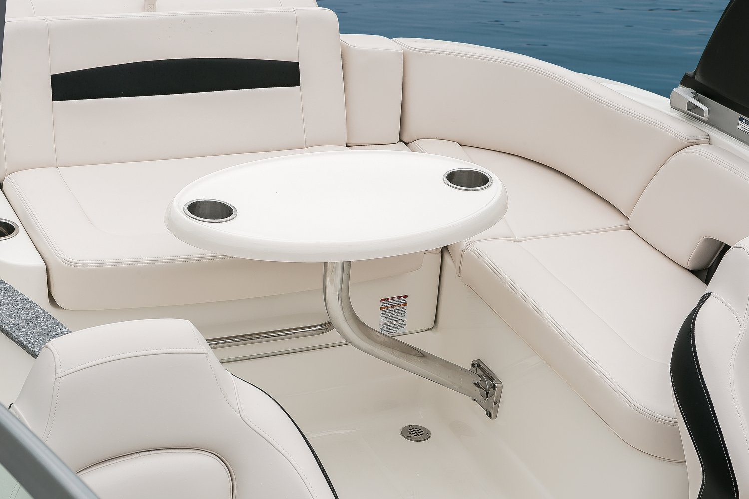 Image of a Solid Blue Hull 2018 244 Sunesta  Cockpit Table